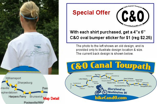 C and O Canal t-shirt - back of shirt design