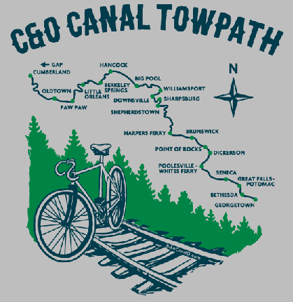 C and O Canal t-shirt - detail of design